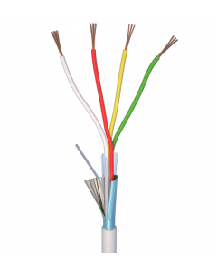 ALARM CABLE 100M 4x0,22 - PVC WHITE INDOOR - CPR EN50575