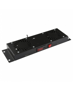 LOGON 2 FANS, DIGITAL THERMOSTAT CONTROLLED FAN MODULE BLACK