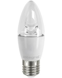CANDLE 5.9W (40W) 2700K 470LM E27 NON-DIMMABLE CLEAR LAMP