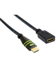 TECHLY HDMI CABLE M/F 4K@60HZ 1MT BLACK