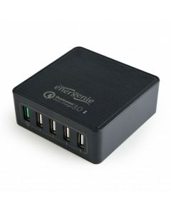 5-PORT QUICK CHARGER QC 3.0 BLACK