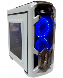CORTEK GRAVITY MICRO ATX GAMING CASE - WHITE