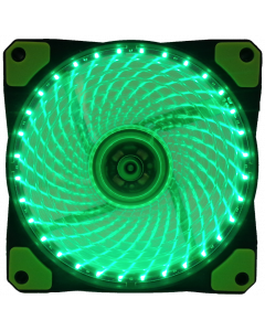GAMMEC TRANSPARENT GREEN CASE FAN WITH GREEN LED LIGHT -  12CM