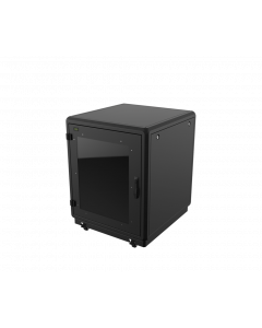 LOGON 16U W=750mm D=1000mm H=910mm SOUNDPROOF BLACK