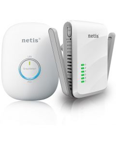 NETIS 300AV 600MPBS WIRELESS  POWERLINE ADAPTER KIT 2PCS IN
