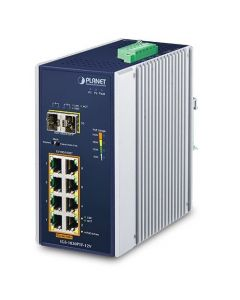 PLANET IP30 INDUSTRIAL 8-PORT 100/1000T+2 SFX - 12V BOOSTER
