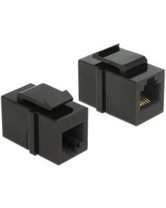 KEYSTONE RJ12/RJ11/RJ14 FEMALE/FEMALE CAT3 BLACK