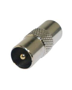 TV COAXIAL ADAPTOR 9.5MM MALE/MALE - METAL