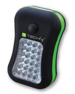 TECHLY 24+4-LED LAMP WITH HOOK & MAGNET