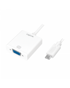 LOGILINK USB ADAPTER, USB 3.2 GEN 1X1, USB-C TO VGA,  1080P