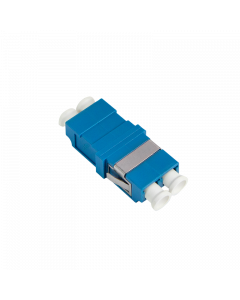 FIBRE ADAPTER/COUPLER LC DUPLEX, SM BLUE, WITHOUT FLANGE