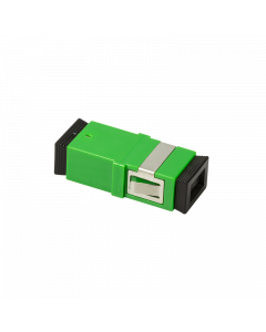 FIBRE ADAPTER/COUPLER SC/APC SIMPLEX, GREEN, WITHOUT FLANGE