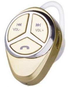 OVBOOST BLUETOOTH EARPHONE WITH VOLUME CONTROLS - GOLD
