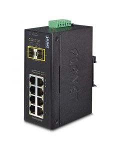 PLANET IP30 INDUSTRIAL 8-PORT 10/100/1000T + 2-PORT SWITCH