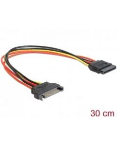 CABLE SATA EXTENSION 15PIN MALE/FEMALE 30CM