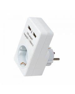 LOGILINK DC ADAPTER WITH 2X 1A USB CHARGER