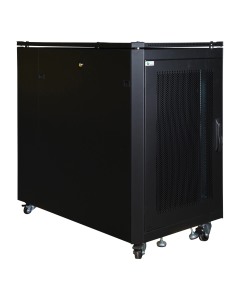 LOGON 16U W=600mm D=1000mm H=897mm SERVER LINE BLACK