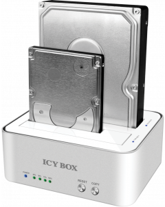 "ICY BOX IB-120CL-U3 COPY DOCKING 2x.2.5"" OR 2x3.5"" USB 3.0"