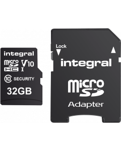 INTEGRAL SECURITY MICROSDHC/XC CARD 32GB FOR CAMERA