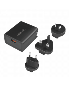LOGILINK USB SOCKET TRAVEL QUICK CHARGING ADAPTER 18W