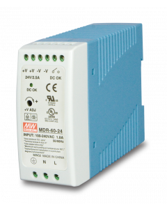 PLANET 24V, 60W DIN-RAIL POWER SUPPLY MDR-40-24 SLIM TYPE
