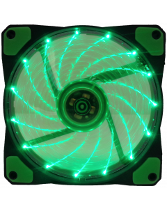 GAMMEC TRANSPARENT GREEN CASE FAN WITH GREEN LIGHT -  12CM
