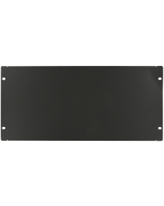 "LOGON 5U 19"" SCREW TYPE BLANK PANEL BLACK"