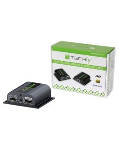 TECHLY 1080P HDMI EXTENDER OVER CAT6 WITH IR - UP TO 60M