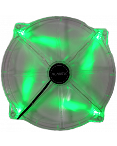 ALANTIK TRANSPARENT CASE FAN WITH GREEN LED LIGHT - 20CM