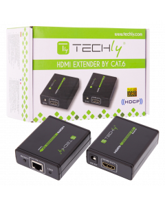 TECHLY 1080P HDMI EXTENDER OVER CAT6 - UP TO 60M