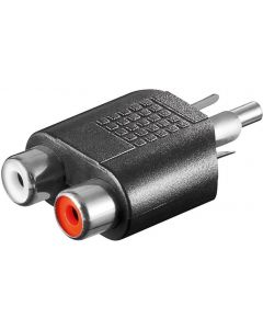 RCA PLUG TO 2x RCA JACK AUDIO ADAPTER