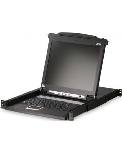"ATEN CONSOLE 8-PORT KVM WITH 17"" LCD, SUPPORT PS/2,USB, SUN"