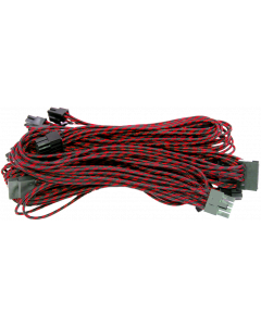 ALANTIK RED/BLACK MODULAR CABLES SET FOR POWER SUPPLY