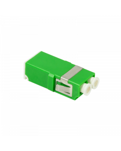 FIBRE ADAPTER/COUPLER LC DUPLEX, GREEN, WITHOUT FLANGE