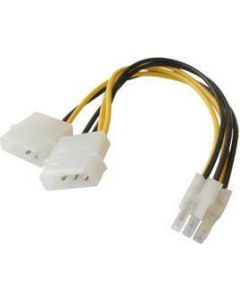 POWER CABLE FOR PCI EXPRESS - 2x5,25 MALE/1x6PIN PCI FEMALE