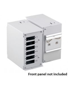 FIBER OPTIC SPLICE BOX FOR DIN RAIL WITHOUT FRONT PANEL