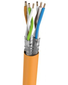 BKT S/FTP LSOH CAT7 ORANGE 23AWG 1000M FULL COPPER ECA