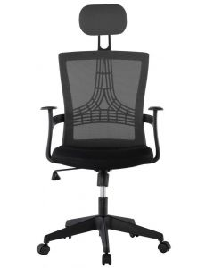 OFFICE CHAIR WITH HIGH BACK BLACK