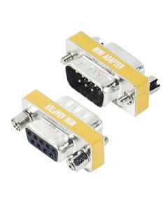 GENDER CHANGER DB9M/DB9F - MINI NULL MODEM ADAPTER
