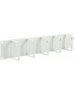 "LOGON 2U 19"" CABLE ORGANIZER PANEL, 5 HOOK WHITE"