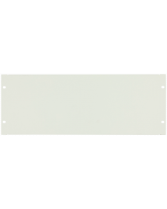 "LOGON 4U 19"" SCREW TYPE BLANK PANEL WHITE"