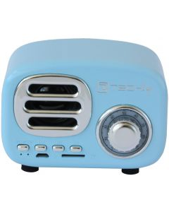 TECHLY BLUETOOTH WIRELESS SPEAKER CLASSIC RADIO DESIGN -BLUE