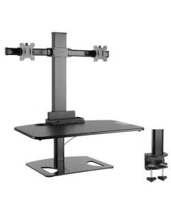 TECHLY ADJUSTABLE DESK STAND FOR 2 MONITORS 13-30""