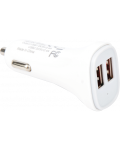 TECHLY CAR CHARGER 2 USB 5V 2.4A & 2.4A WHITE