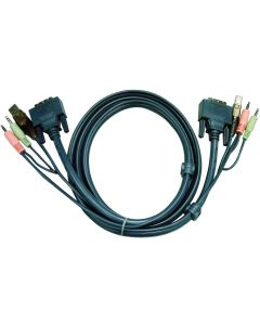 ATEN USB DVI-D SINGLE LINK KVM CABLE - 1.8M