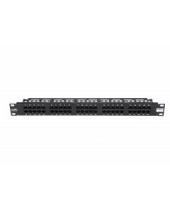 "BKT 19"" PATCH PANEL ISDN 50xRJ45 1U BLACK+ORGANIZER"