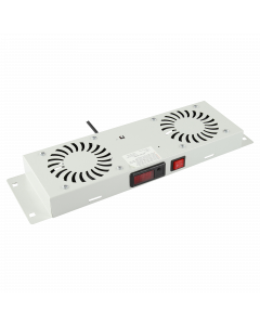 LOGON 2 FANS, DIGITAL THERMOSTAT CONTROLLED FAN MODULE WHITE