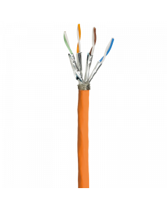 S/FTP LSOH CAT7A 1000MHz CABLE 500M, SIMPLEX, ORANGE