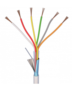 ALARM CABLE 100M 6x0,22 - PVC WHITE INDOOR - CPR EN50575