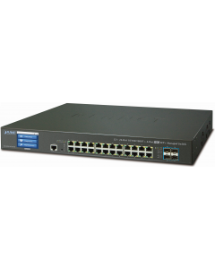 PLANET 24-PORT 10/100/1000 TP + 4-PORT 10G SFP+ ETHERNET SWI